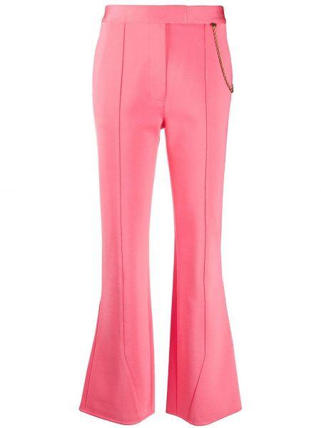 Rozbłysnął różowy przycięte spodnie z wiskozy rozciągać Givenchy