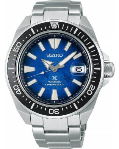 Со стрелками серебряные часы механические со вставками Seiko