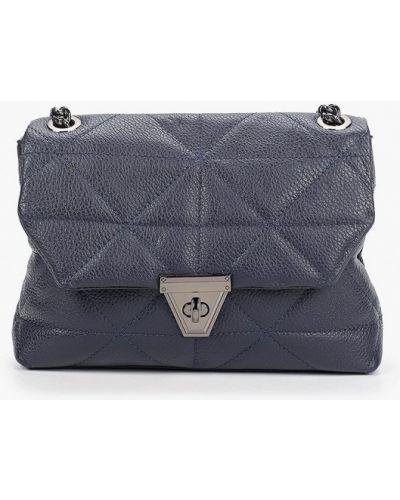 Синяя сумка через плечо из натуральной кожи Carla Ferreri