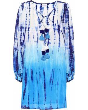 Теплое платье с завышенной талией из штапеля Anna Kosturova