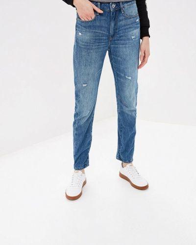 Прямые джинсы синие G-star