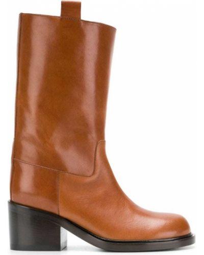 Кожаные сапоги кожаные коричневые A.f.vandevorst