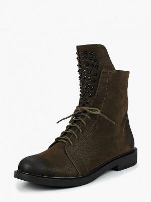 Кожаные ботинки осенние зеленые Dino Ricci Trend