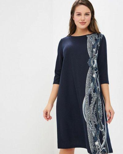 Повседневное платье осеннее синее Zarus`