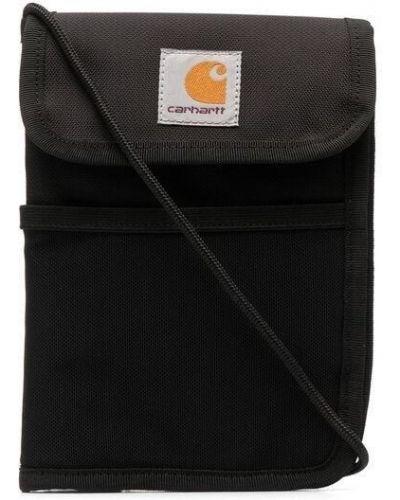 Нейлоновая черная сумка через плечо с нашивками Carhartt Wip