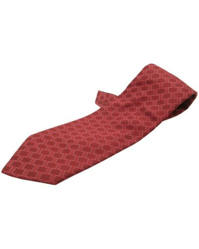 Krawat z jedwabiu - fioletowy Hermès Vintage