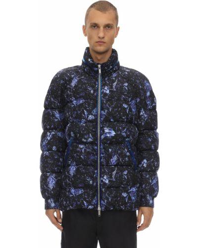 Niebieska kurtka z kapturem z nylonu Byblos