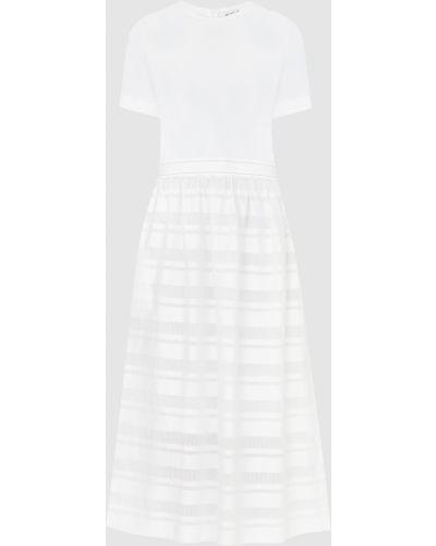 Белое платье макси Peserico