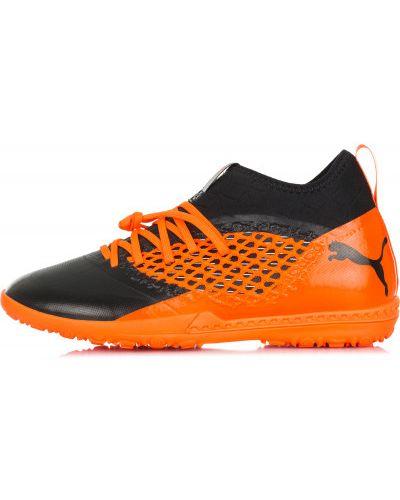 Оранжевые бутсы футбольные Puma