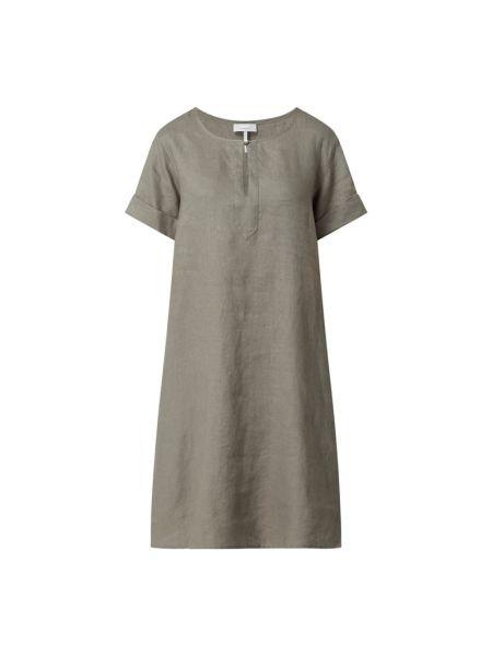 Sukienka rozkloszowana krótki rękaw - zielona Cinque