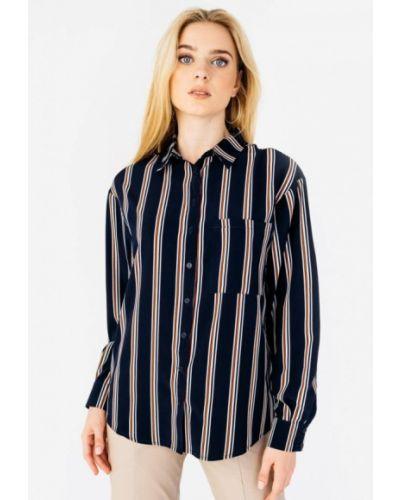 Синяя блузка с длинными рукавами Bessa