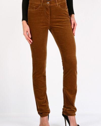 Коричневые зауженные брюки Lagrand
