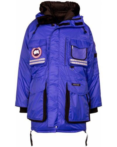 Пуховая синяя парка Canada Goose