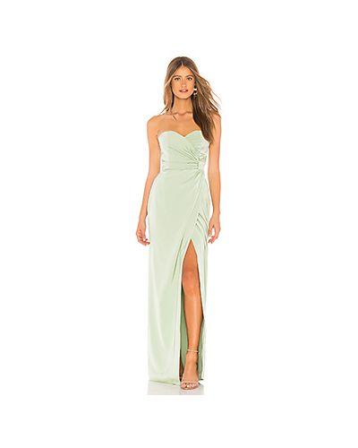 Вечернее платье с декольте в полоску Majorelle