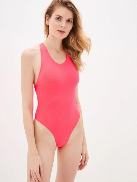 Плюшевый розовый слитный купальник Phax
