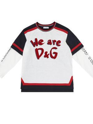 Szkoła bawełna bawełna biały koszula Dolce & Gabbana Kids