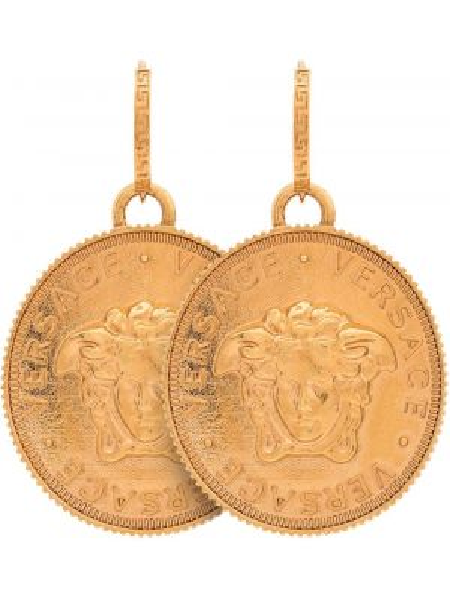 Золотые серьги металлические Versace