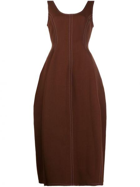 Sukienka bez rękawów - brązowa Enfold