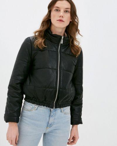 Кожаная куртка - черная Rinascimento