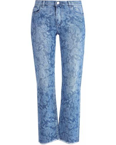 Расклешенные джинсы укороченные на пуговицах Etro
