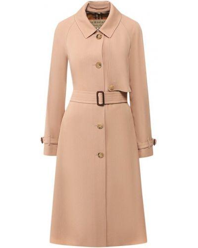 Пальто розовое шерстяное Burberry