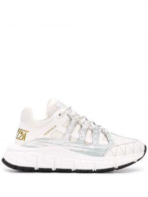 Кожаные кроссовки - белые Versace