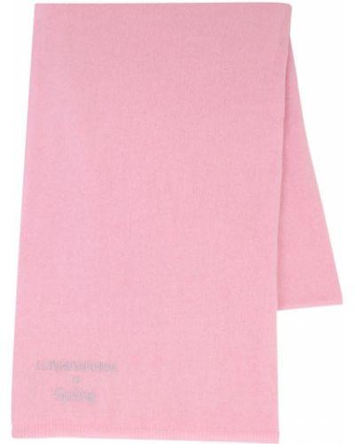 Prążkowany różowy z kaszmiru szalik Luisaviaroma