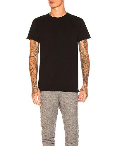 Baza bawełna bawełna czarny t-shirt John Elliott