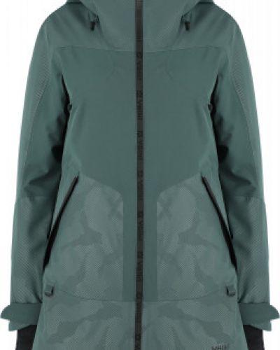 Зеленая спортивная утепленная куртка на молнии VÖlkl