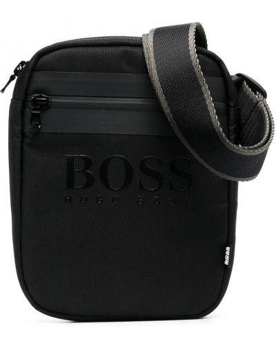 Черная косметичка с заплатками с тиснением Boss Kidswear