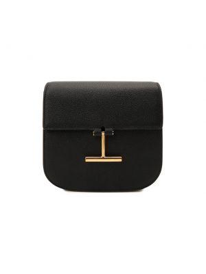 Кожаная сумка через плечо - черная Tom Ford