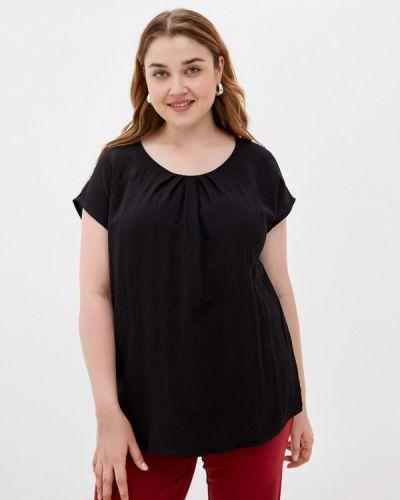 Черная блузка с короткими рукавами Zizzi
