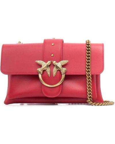 Красная кожаная сумка через плечо на молнии Pinko