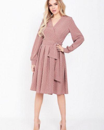 Розовое платье с запахом Magnet