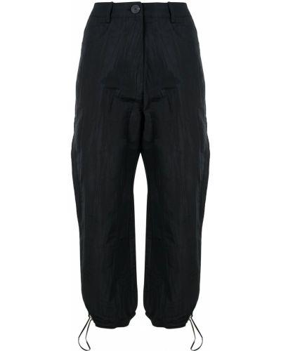 Укороченные классические брюки - черные Beaufille