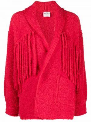 Красная куртка длинная Forte Forte