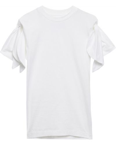 T-shirt bawełniana - biała Marques Almeida