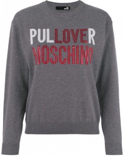 Серый джемпер Love Moschino