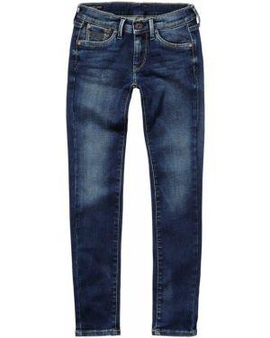 Брюки хлопковые облегающие Pepe Jeans