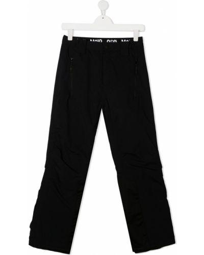 Черные брюки с нашивками с поясом на молнии Molo