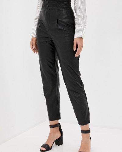Черные кожаные брюки Rinascimento