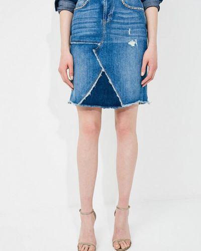 Джинсовая юбка синяя турецкий Liu Jo
