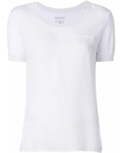 Белая футболка базовая Woolrich
