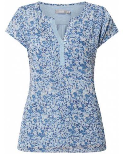 Niebieska bluzka z wiskozy Fransa