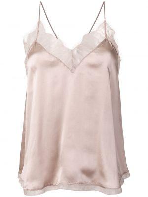 Топ с открытой спиной - розовый Iro