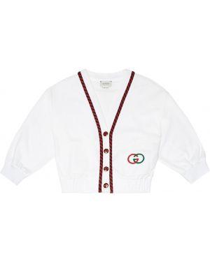 Bluza z kapturem biały dom Gucci Kids