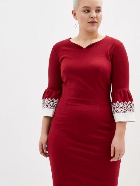 Платье футляр бордовый Aelite