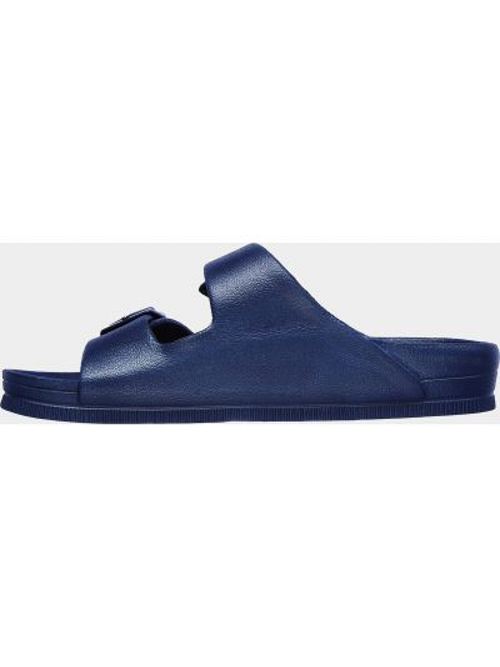 Синие шлепанцы Skechers