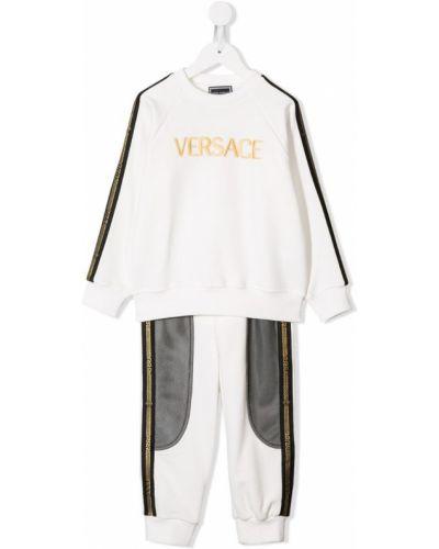 Спортивный костюм прямой белый Young Versace