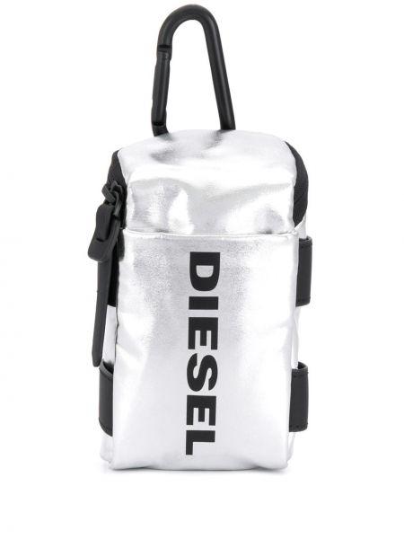 Серебряный кошелек прямоугольный Diesel